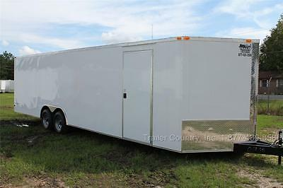 New 2019 8.5 X 28 8.5X28 V Nose Enclosed Race Cargo Toy Car Hauler Trailer