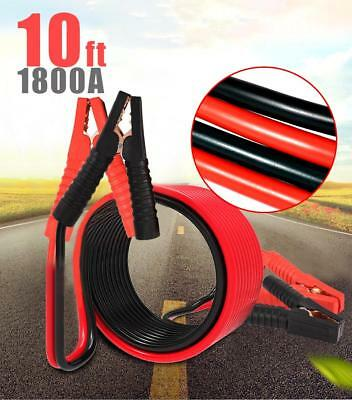 1800AMP 10FT/3M  Battery Booster Jumping Cables Power Jumper Emergency Heavy du