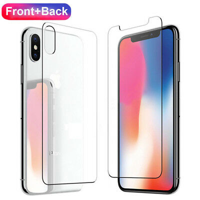 Premium Front and Back Tempered Glass Film Screen Protector For iPhone XS Max XR