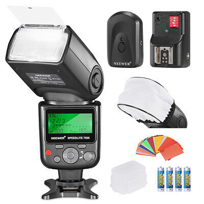 Neewer PRO i-TTL Flash *lujoso Kit Flash Difusor Cap Filtros disparador  batería