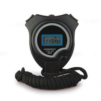 Digital Sports Chronograph Day Timer Counter Stopwatch Stop Watch I1J1