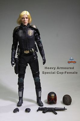 12'' Heavy Armoured Special Cop Dredd Figure 1/6 Female Judge Anderson Gril Doll