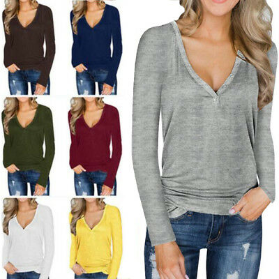 Women's V Neck Pullover Knitted Sweater Blouse Shirt Ladies Knitwear Tops Shirts