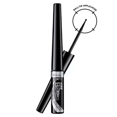 RIMMEL Scandaleyes BOLD Liquid Eyeliner BLACK Waterproof 2.5ml  - NEW