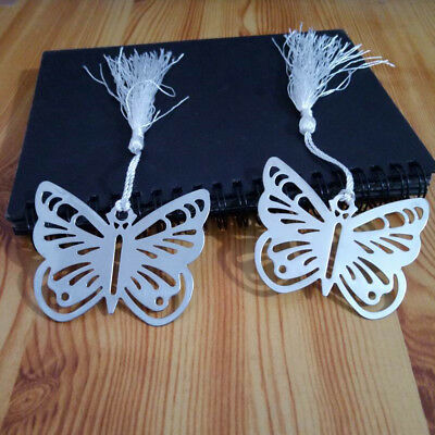 Useful Metal Silver Butterfly Shape Bookmark Stationery Reading Accessories Gift