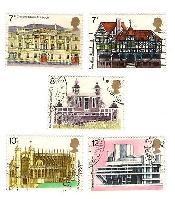 GB Stamps SG975-979 1975 European Architectural Heritage Year. Multicoloured