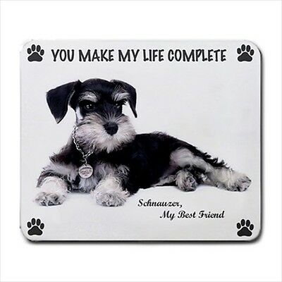 New Design So Cute MINIATURE SCHNAUZER Dog Puppy Rubber Computer MOUSE PAD Mat