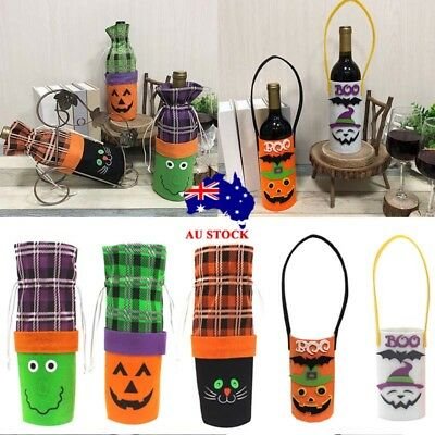 AU Halloween Wine Bottle Beer Gift Draws Bag Party Packing Bag Table Decoration