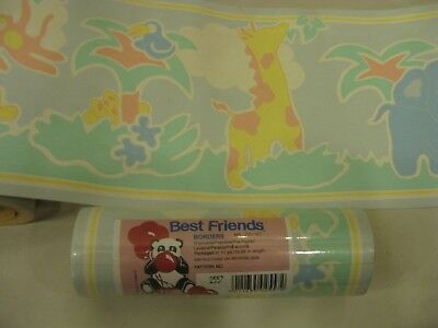 10m Vintage Pre Pasted Washable Childrens Nursery Wallpaper Animal Design UK #W2