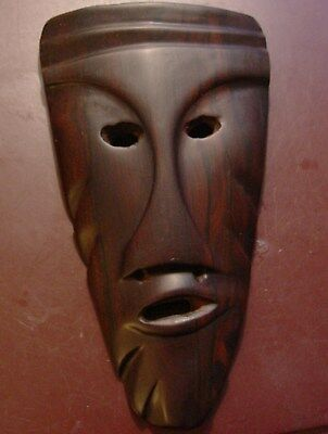 African Tribal Mask Wall Art Hand Carved Wood