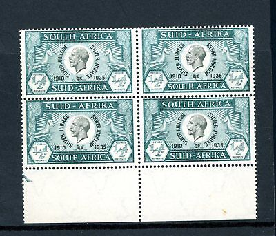 South Africa  1935 Silver Jubilee 1/2d Block (4) unmounted MINT    (S1039)
