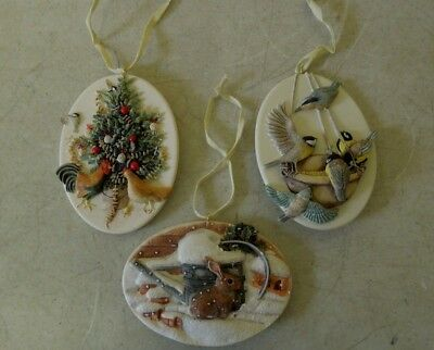 3 Hallmark Cards Inc. Marjolein Bastin Tree Ornaments, 1996 - 1997