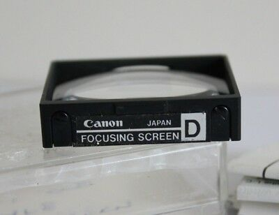 GENUINE Canon F1 ( Old Type ) FOCUSING SCREEN TYPE D