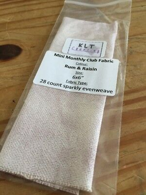 """Klt Charting Hand Dyed Fabric 6x6 """" 28ct Sparkly Evenweave"""