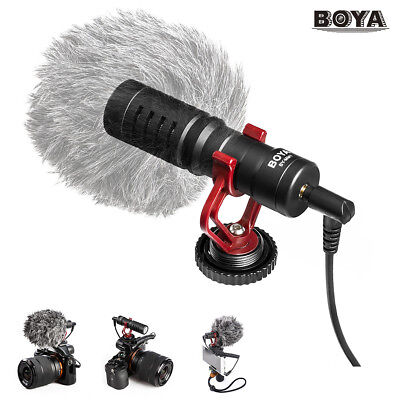 BOYA BY-MM1 Cardioid Shotgun Microphone Mic Condenser for Phones DSLR Camera
