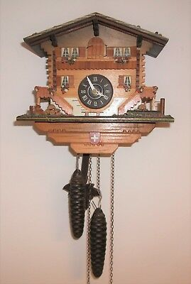 Vintage Cuckoo Clock - Twin Weight - Chalet Hose Style