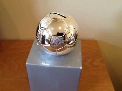 silver plated Football Moneybox,(8.5cms)new by shudehill,rrp £17.99