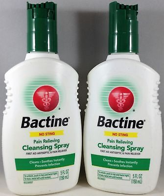 Exp 12/18 2 Pack Bactine Pain Relieving Cleansing Spray Antiseptic - 5oz Each