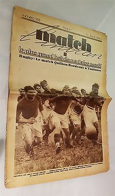 Match Magazine 15th April 1930 Issue No 188 Rugby Cycling Rowing