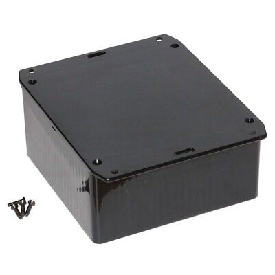 Hammond 1591USFLBK Multipurpose GPABS Enclosure Flanged Lid 120 x 120 x 59 Black