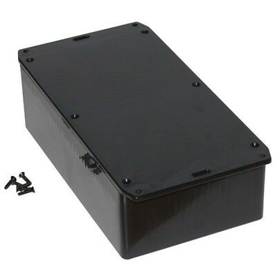 Hammond 1591ESFLBK Multipurpose GPABS Enclosure Flanged Lid 191 x 110 x 61 Black