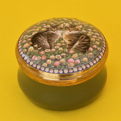 Crummles Enamel Pill Trinket Box Cats Lesley Anne Ivory A Calendar of Kittens