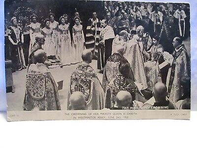 1952 Tuck Coronation Day Postcard Crowning Of Queen Elizabeth June 2Nd 1952