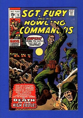 Sgt. Fury And His Howling Commandos #79 Vf+ High Grade Bronze Age Marvel