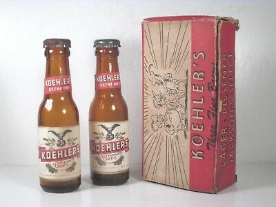 Koehler Brewing Co. Beer Mini S&P Bottles w/ Labels - Erie Brewing Co Erie PA