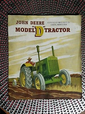 ORIGINAL 1948 John Deere Advertising Brochure Model D Tractor CRETE, NEBRASKA