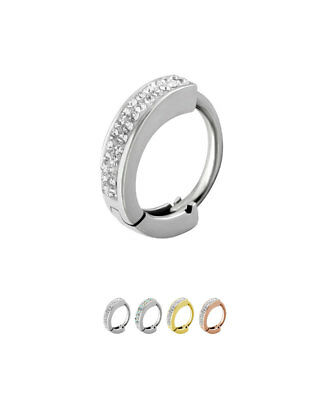 Sold by Piece Freedom Fashion 316L Surgical Steel Multi CZ Vine Navel Ring