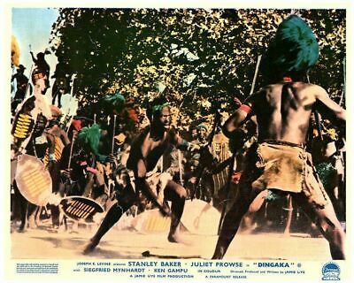 Dingaka Original Lobby Card African Tribe fight scene 1964