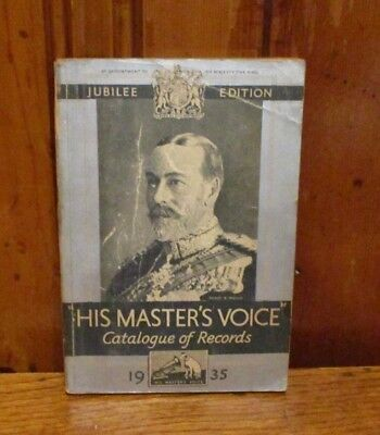His Master's Voice Catalog Of Records - 1935 Edition