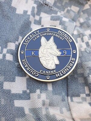 US DOG HANDLER K9 POLICE SWAT LAW ENFORCEMENT Coin Münze ARMY SPECIAL FORCES