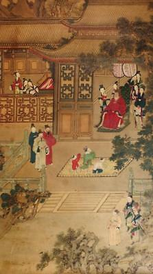 FINE ANTIQUE CHINESE SCROLL PAINTING, OFFICIAL with ATTENDANTS #2, NO RESERVE