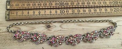 A Pretty Vintage Necklace, Vintage Necklace With Sparkling Glass Stones