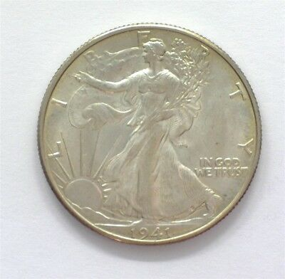 1941-D Walking Liberty Silver 50 Cents  Gem+ Uncirculated