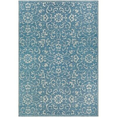 "Couristan Summer Vines Ocean-Ivory In-Out Runner, 2'3"" x 11'9"" - 23313216023119U"