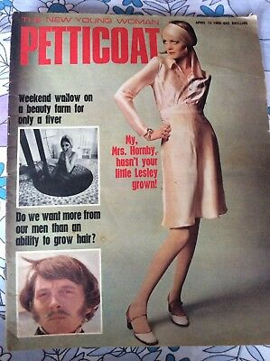Petticoat magazine 13 April 1968 Ossie Clark Quorum Alice Pollock Twiggy fashion