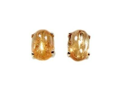 19thC Antique Russian Imperial Topaz Cabs Ancient Roman God Apollo Jupiter Stud