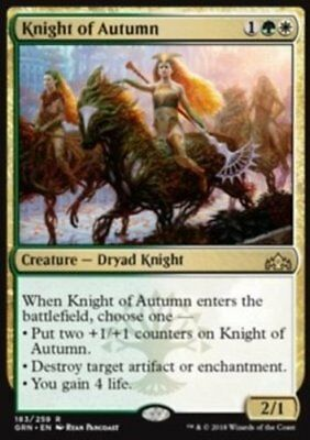 *MtG: KNIGHT OF AUTUMN - Guilds of Ravnica Rare - Presale - magicman-europe*