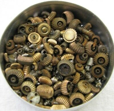 Lot Of Antique Pocket Watch Movement Case Crowns Stems Sleeves Parts Repair
