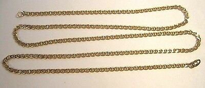Stunning 14K Rose Gold Unique Curb Link Chain Necklace 4.4 Grams - Missing Clasp