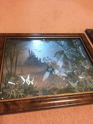 A Set Of Two Fantasy Fairy Photos, Frames Included