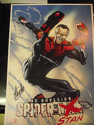 Superior Spider-Stan Poster Signed by Stan Lee