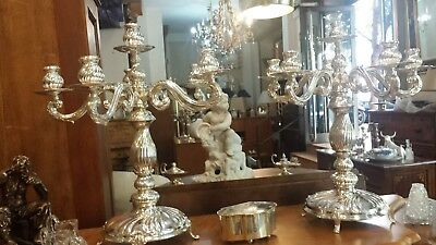 3000g FINE EXTRA CHANDELIERS set of 2 ROYAL COLONIAL STYLE:M ESPUÑES SILVERSMITH