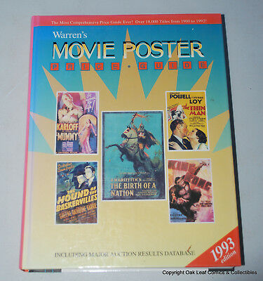 Warren's MOVIE POSTER PRICE GUIDE Hardcover 1993
