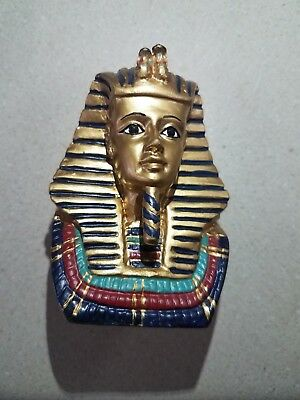 Nice Small Sphinx Tut Head Face Pharaoh Figurine Statue Ancient Paperweight