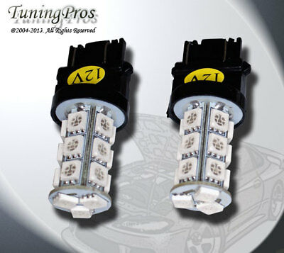 2pcs of 3157 LED Rear Signal 18 SMD Amber Light Bulbs One Pair 3357 3047 3157A