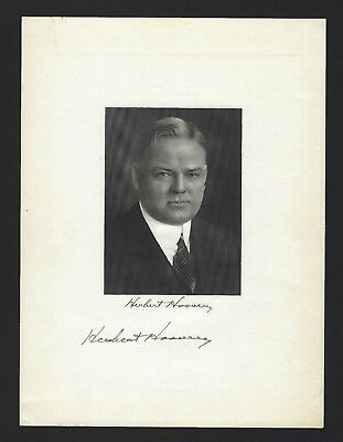 Herbert Hoover Signed Portrait JSA LOA Stately Portrait of the 31st President
